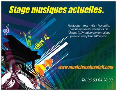 Stage musiques actuelles